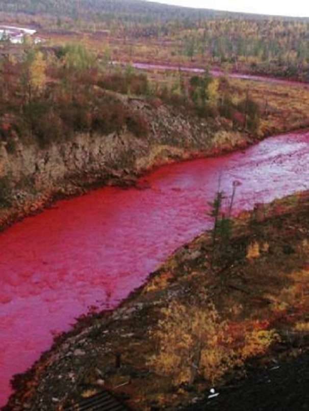River turns red in Norlisk City.