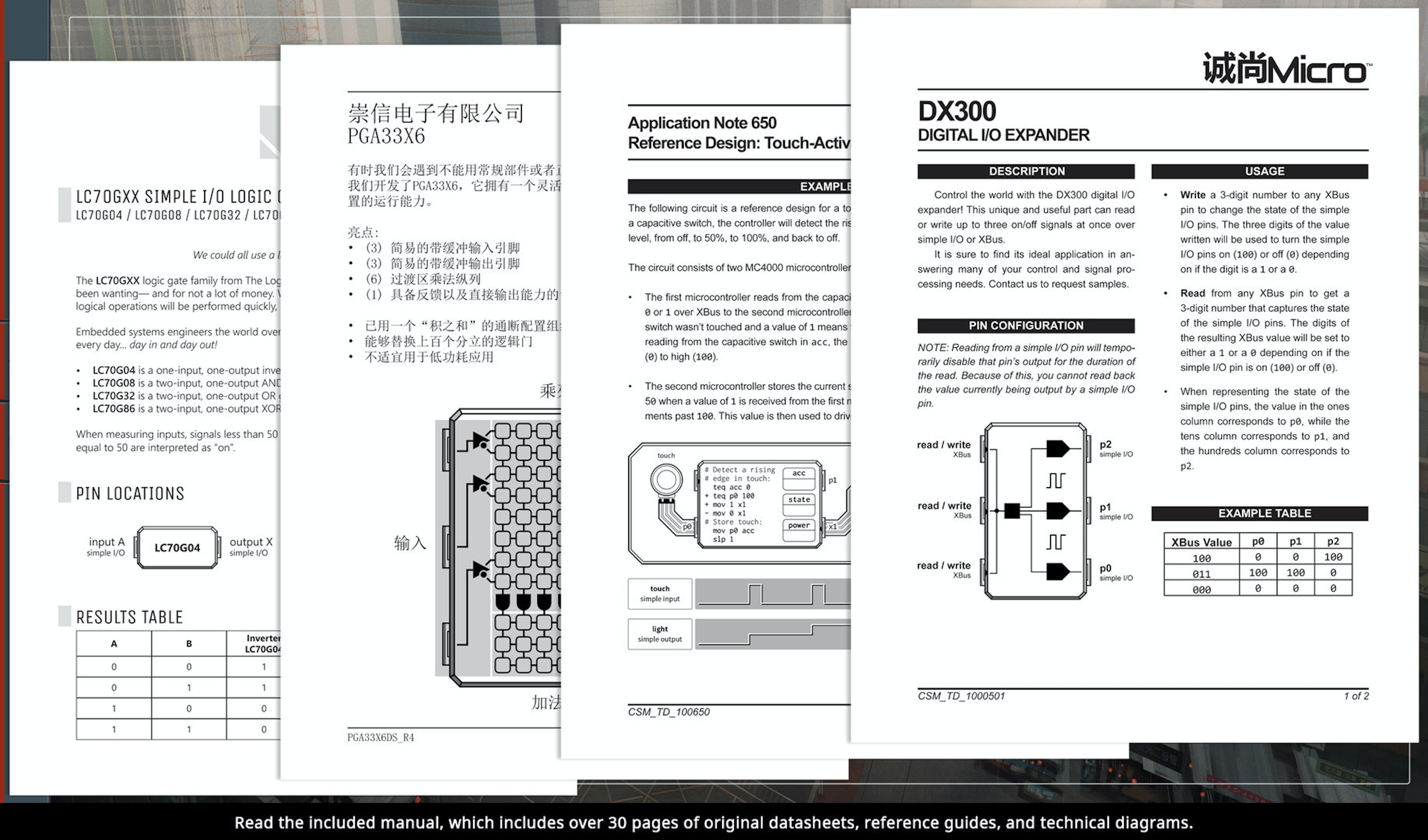 This is an example of what the physical manual looks like for 'Shenzhen I/O'.