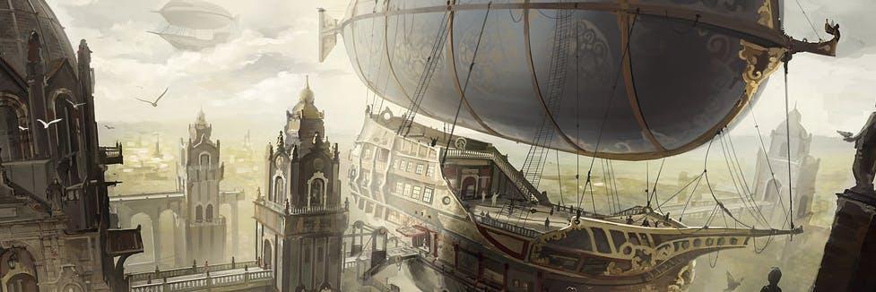 Airship City by Min-Nguen via deviant art