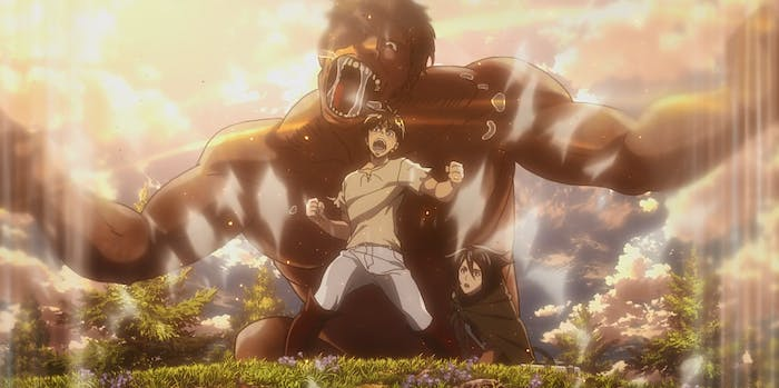Eren uses the Coordinate power on 'Attack on Titan'.