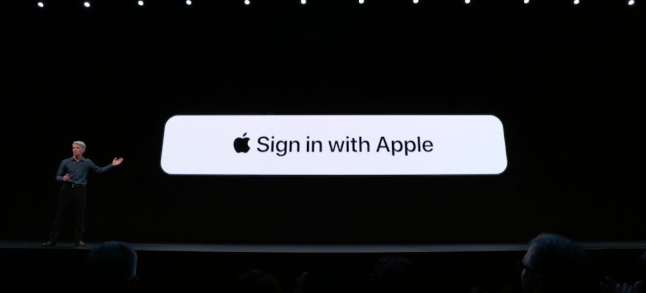"""""""Sign in with Apple is the fast, easy way to track in without all the tracking,"""" said Federighi on Monday."""