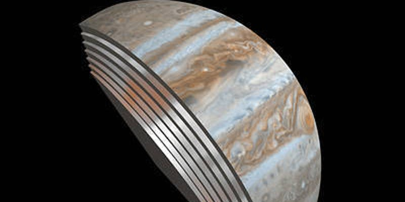 Juno discovered that Jupiter's stormy cloud layers extended deep into the atmosphere.