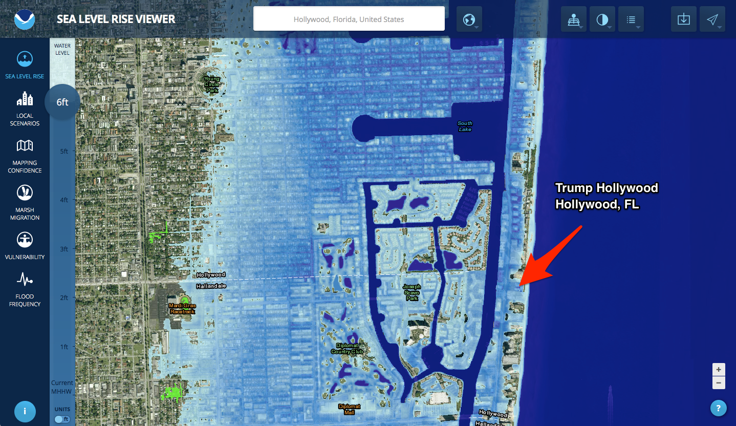 Many Trump Properties Could Be Underwater Due To Rising Sea Levels - Trump towers in the us map