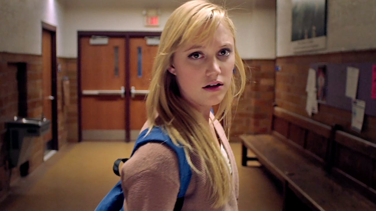 "Maika Monroe stars as Jaimie ""Jay"" Height in 'It Follows'."