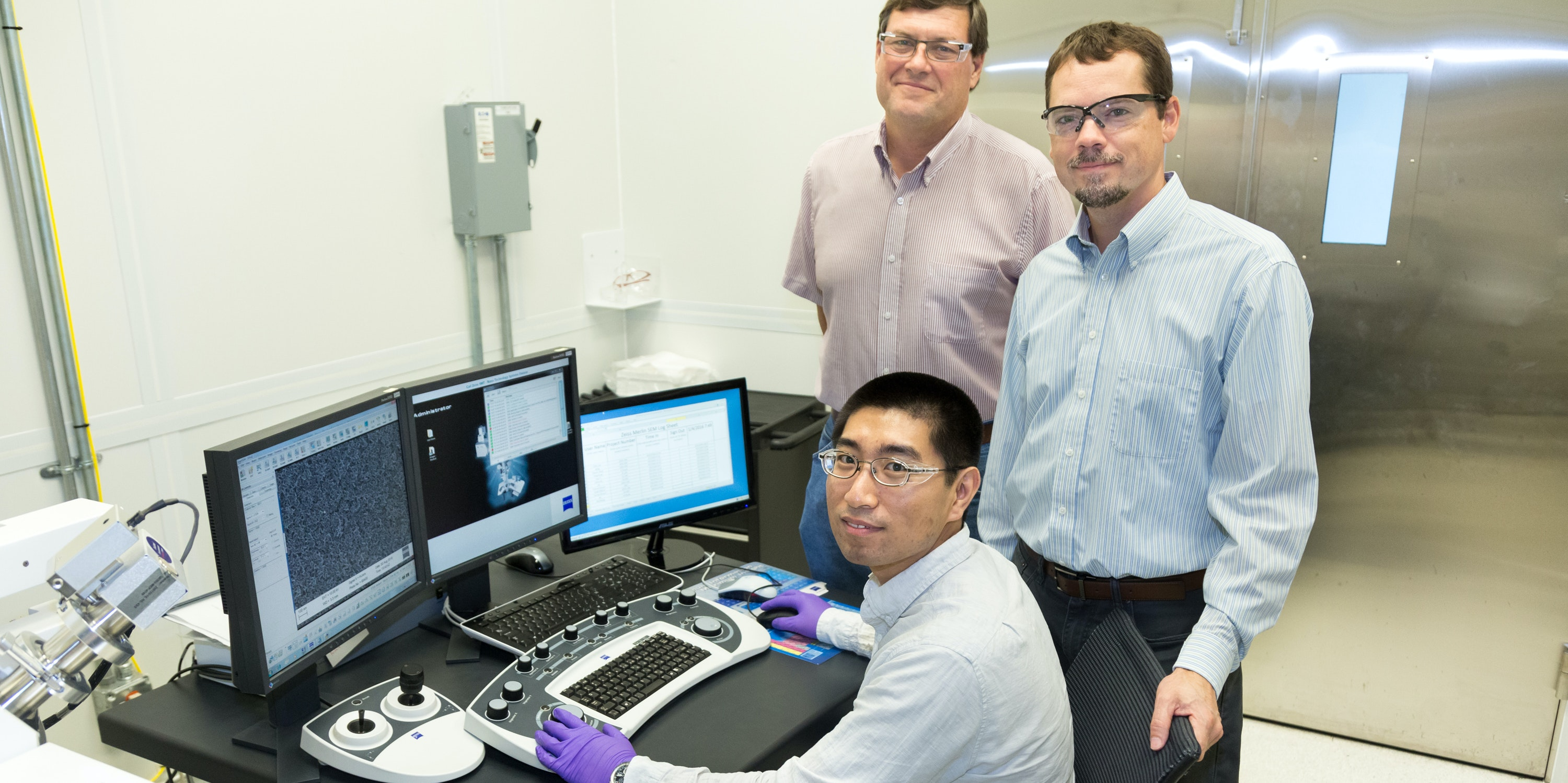 ORNL researchers who turned carbon dioxide into ethanol.