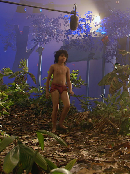 On the set of 'The Jungle Book'