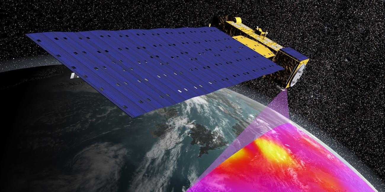 satellite scanning earth