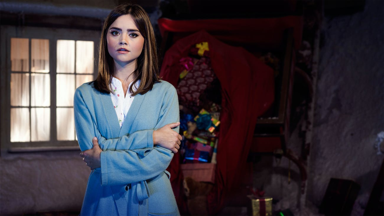 "Jenna Coleman as Clara Oswald in 2014's ""The Last Christmas."""