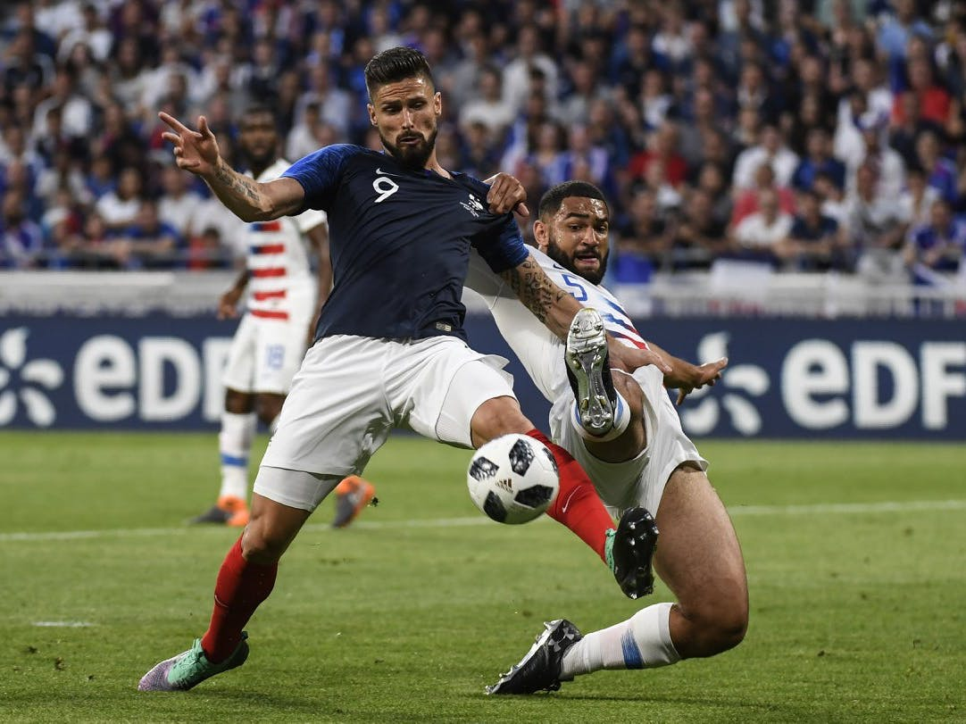 France plays the USA in a World Cup warm-up match on June 9.