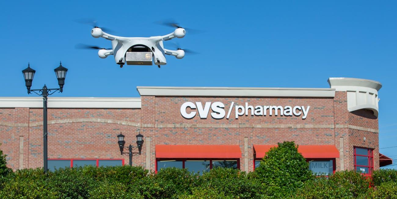ups cvs drone medication