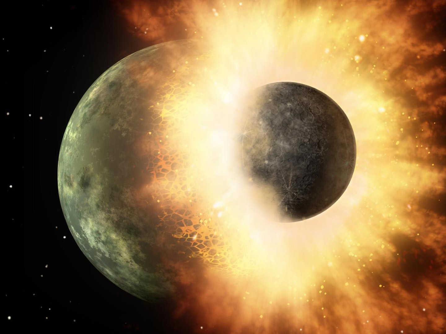 Planetary Collision Brought Earth Its Life-Giving Carbon