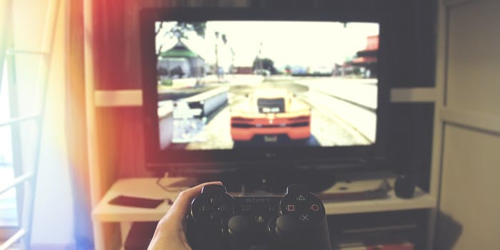 Television and Game Controller