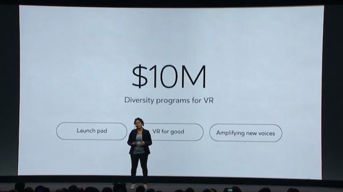 Oculus pledged $10 million towards diversity programs for virtual reality.