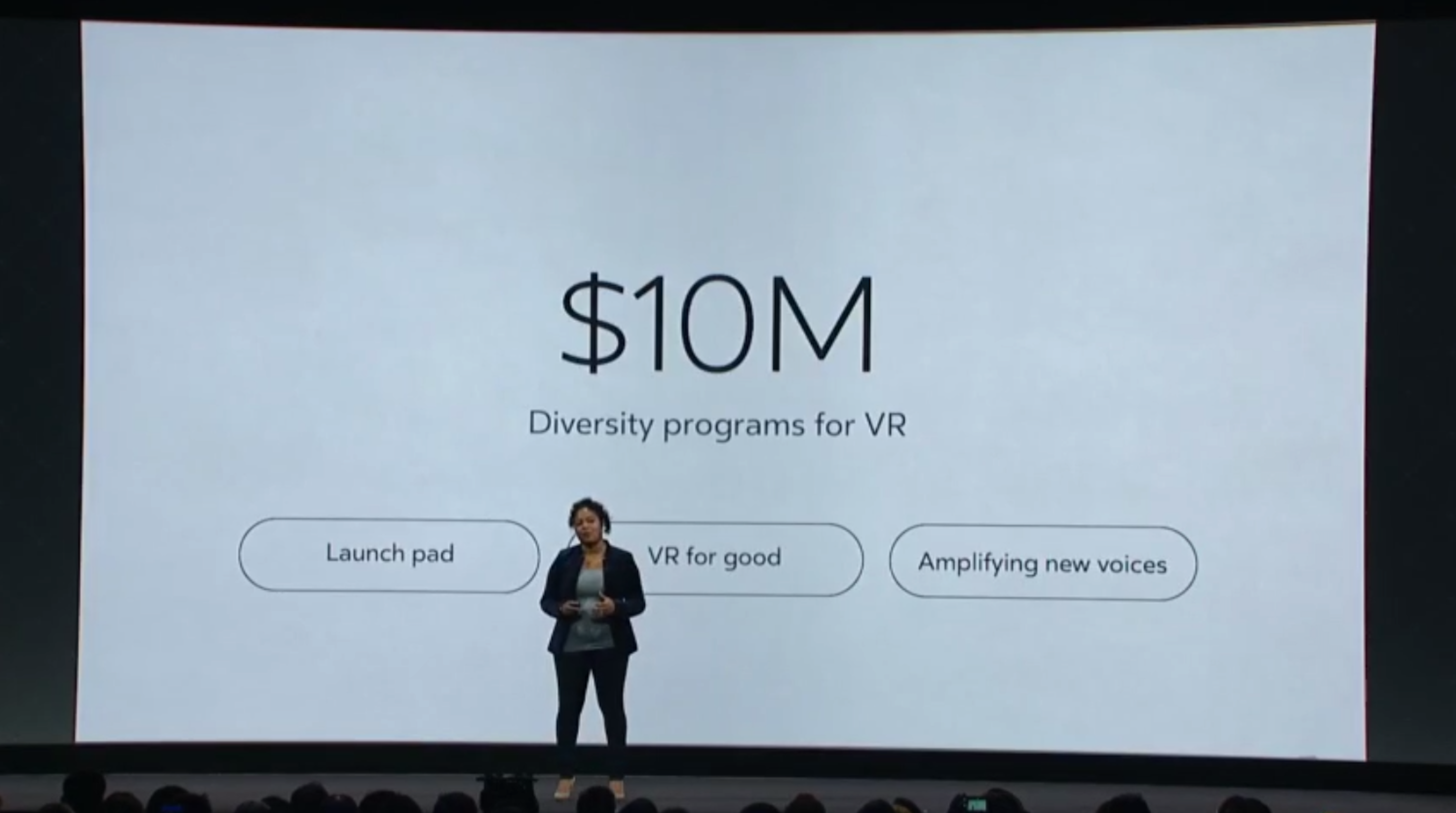 Oculus pledged $10 million towards diversity programs for virtual reality.