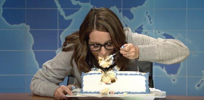 Tina Fey sheetcake