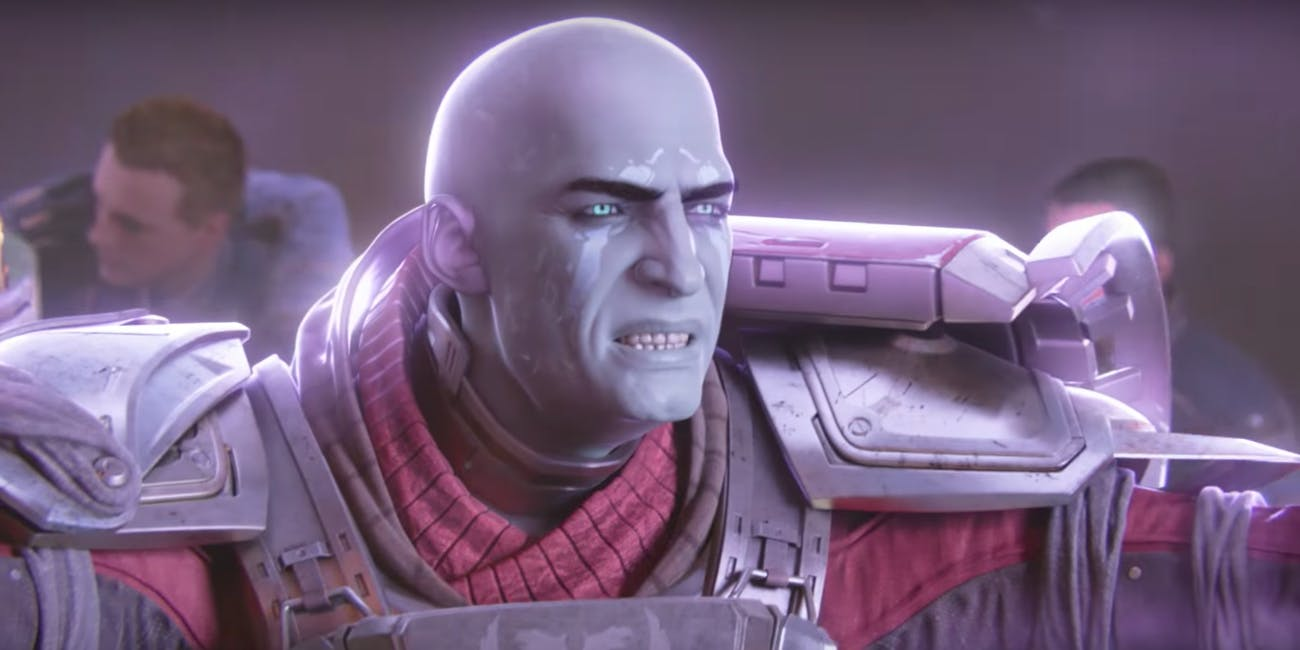 Zavala shields the Vanguard from oncoming rockets with a Ward of Dawn.