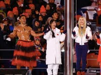 Winter Olympics Closing Ceremony Shirtless Tongan