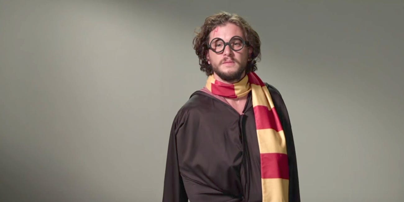 Kit Harington, aka Jon Snow, Makes A Great Harry Potter