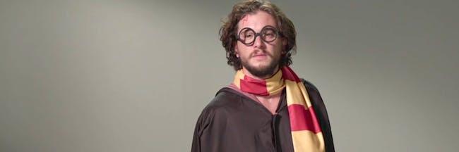 Kit Harington, aka Jon Snow on 'Game of Thrones' as Harry Potter