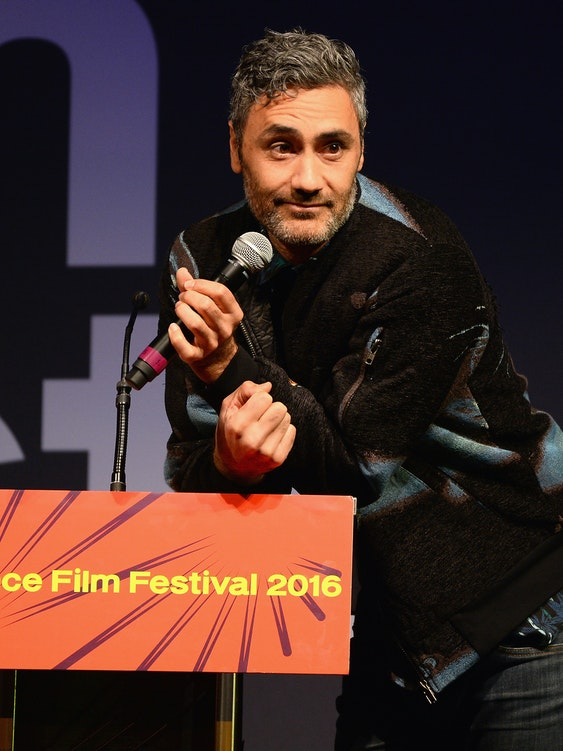 PARK CITY, UT - JANUARY 30:  Film director and host Taika Waititi speaks onstage at the Sundance Film Festival Awards Ceremony during the 2016 Sundance Film Festival at Basin Recreation Field House on January 30, 2016 in Park City, Utah.  (Photo by Andrew Toth/Getty Images for Sundance Film Festival)