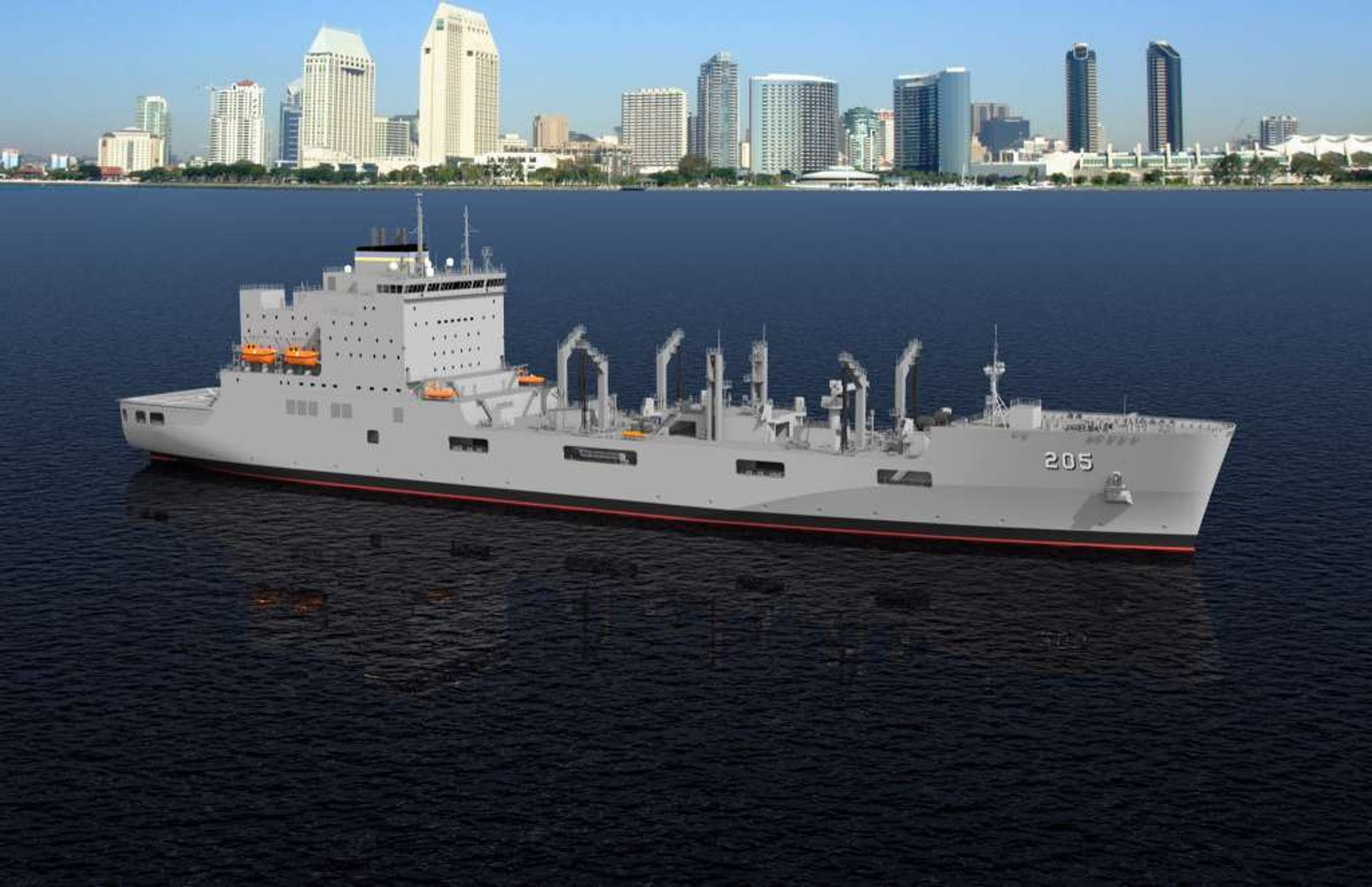 A rendering of one of the ships expected to be named in honor of gay rights icon and former Navy serviceman Harvey Milk.