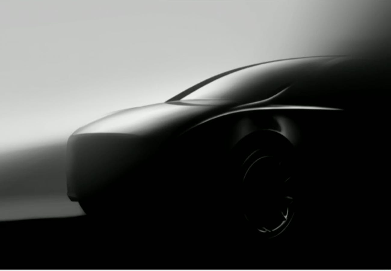 The new Tesla Model Y image.