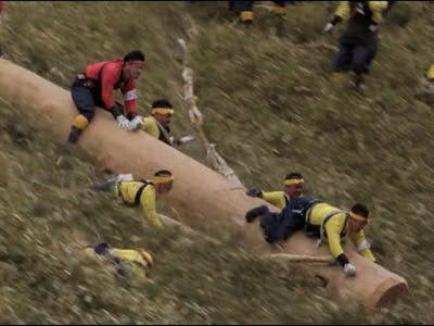 Watch the Japanese Onbashira Festival's Insanely Dangerous Downhill Log-Race