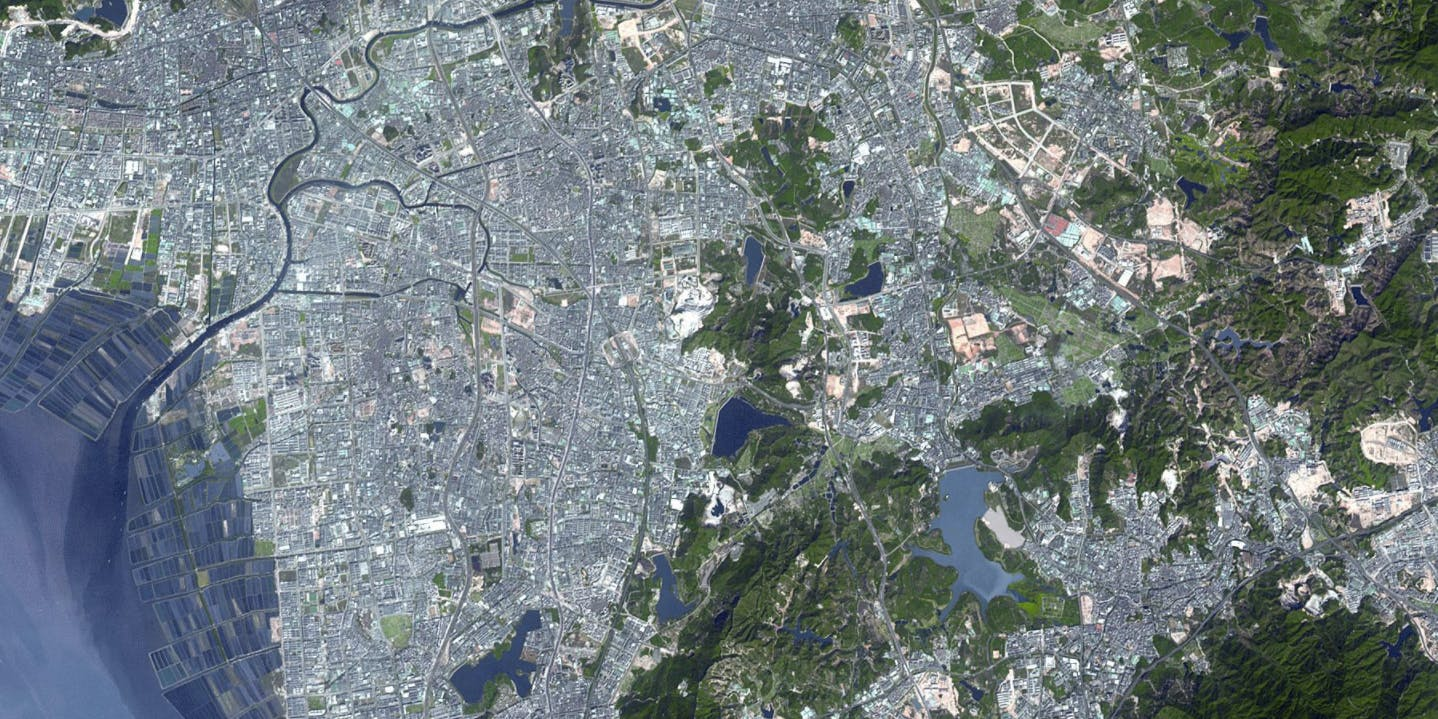 Shenzhen from space