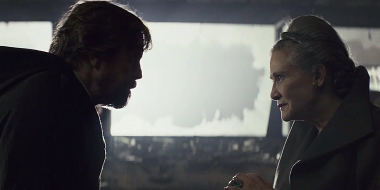 Luke and Leia in 'The Last Jedi'