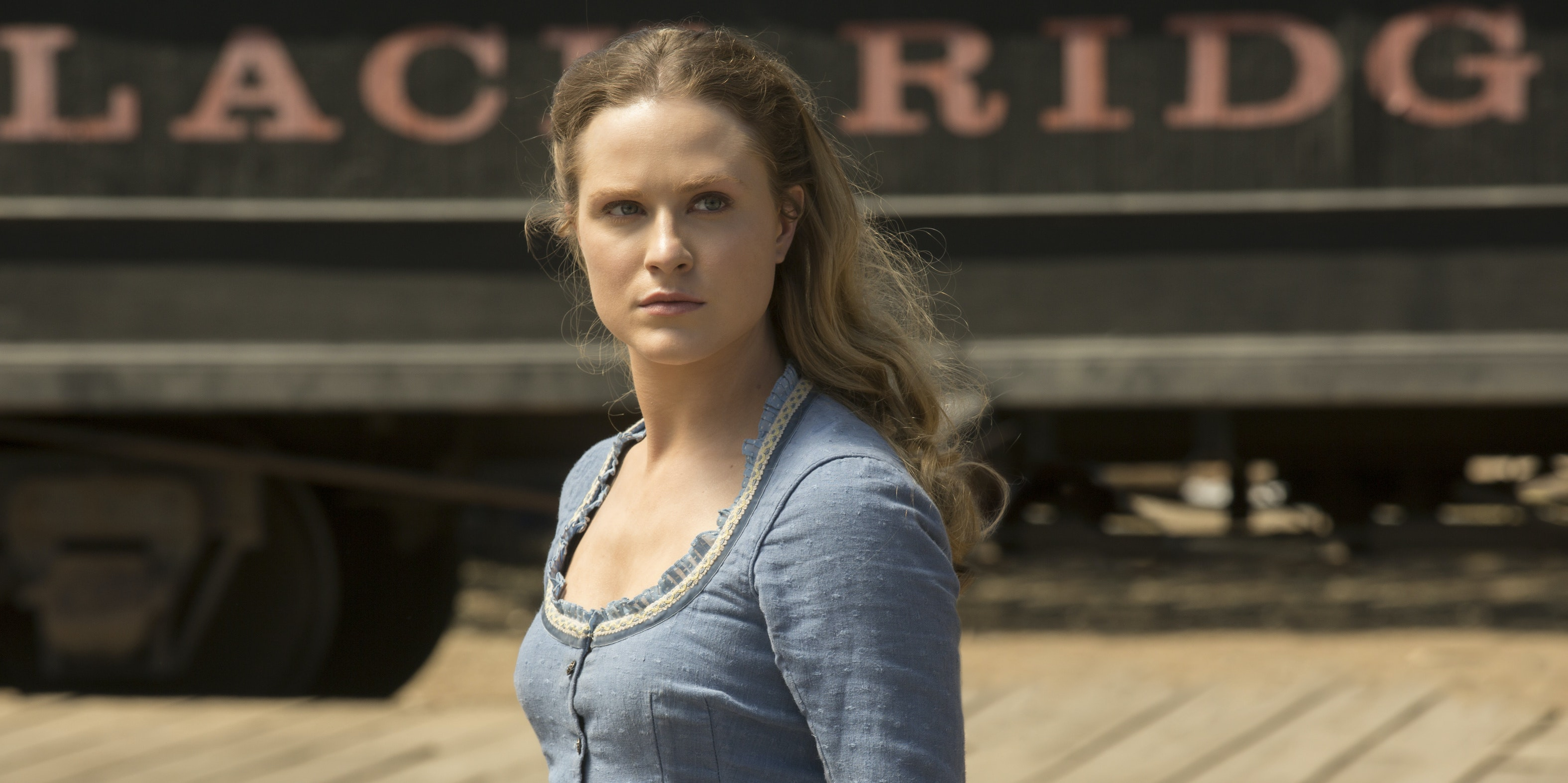 Evan Rachel Wood as Dolores on 'Westworld'