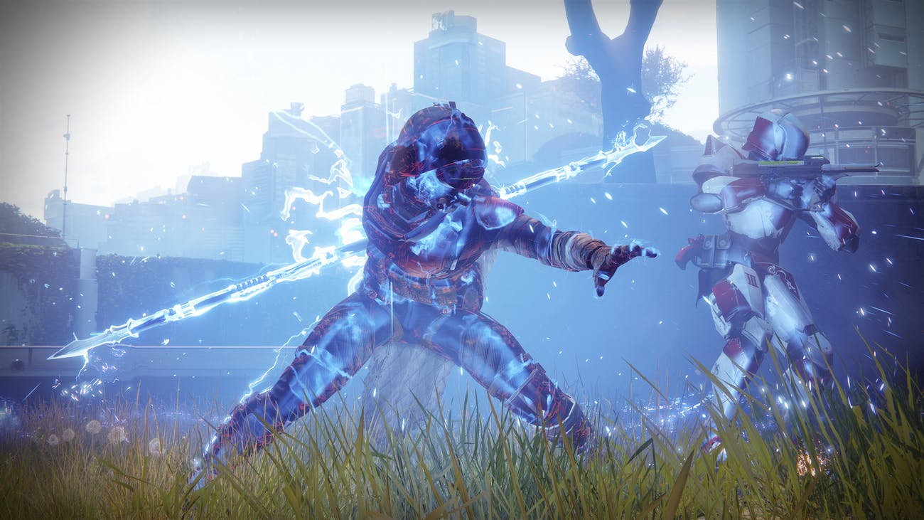 The Hunter Arcstrider upon activating the class's new Super ability.