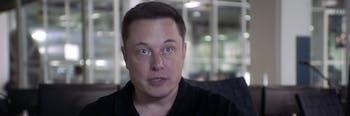 Elon Musk sitting still