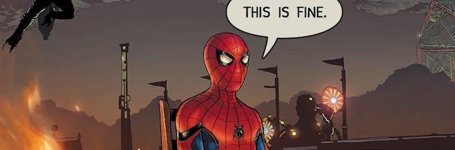 Spider-Man 'This is Fine' Meme