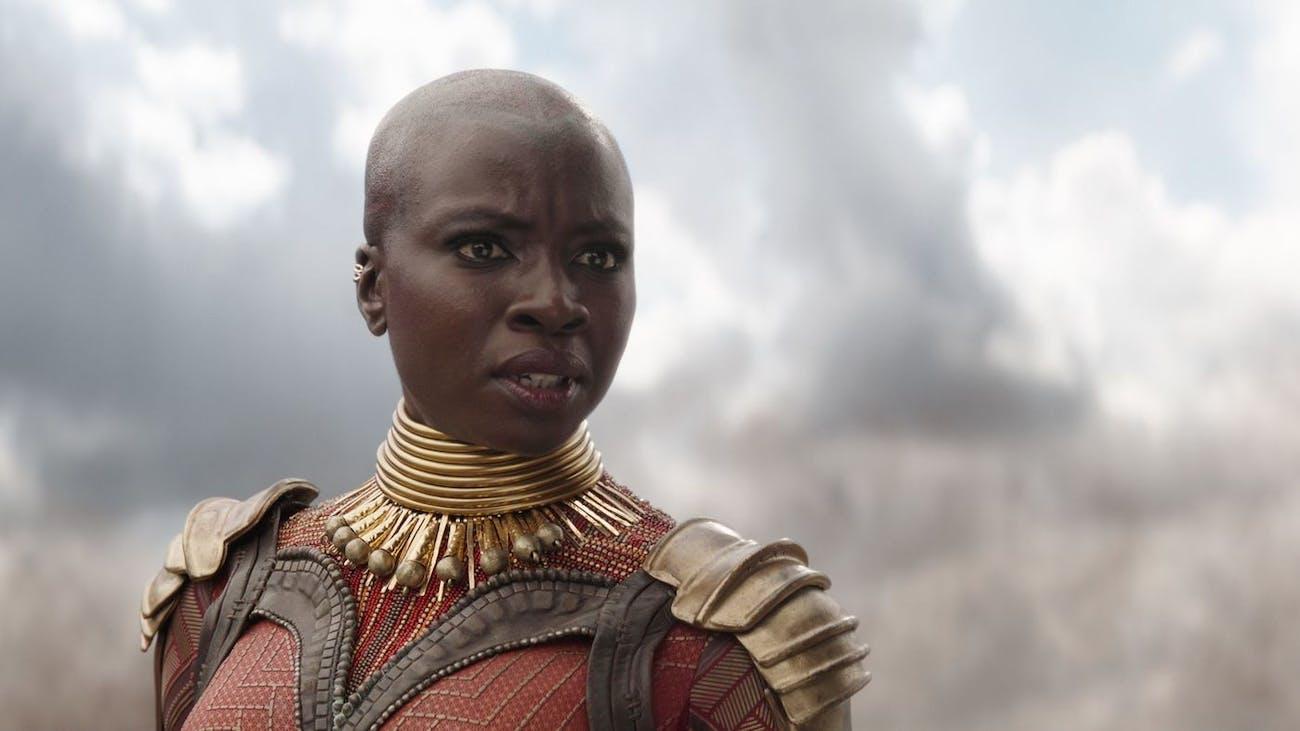 Danai Gurira as Okoye in 'Infinity War'