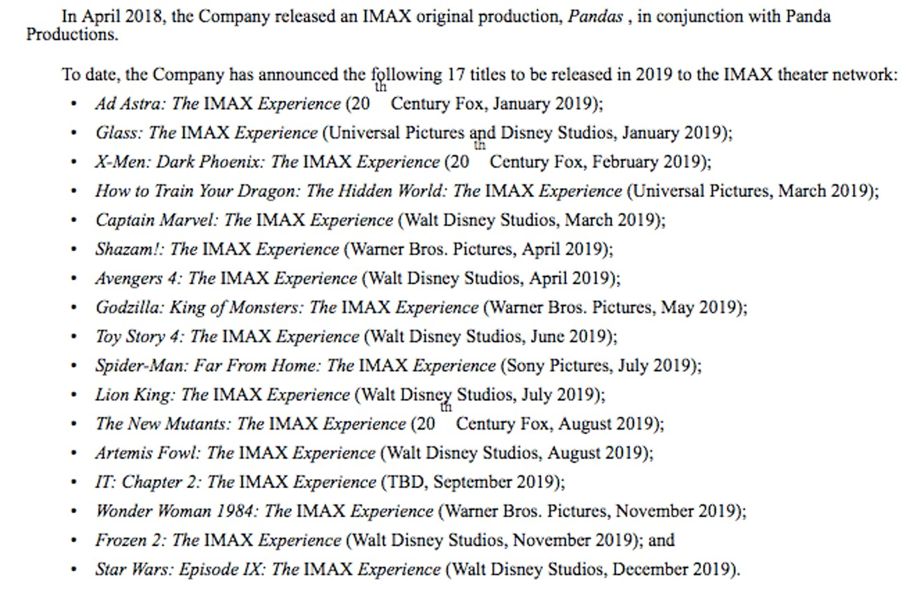 IMAX Avengers 4