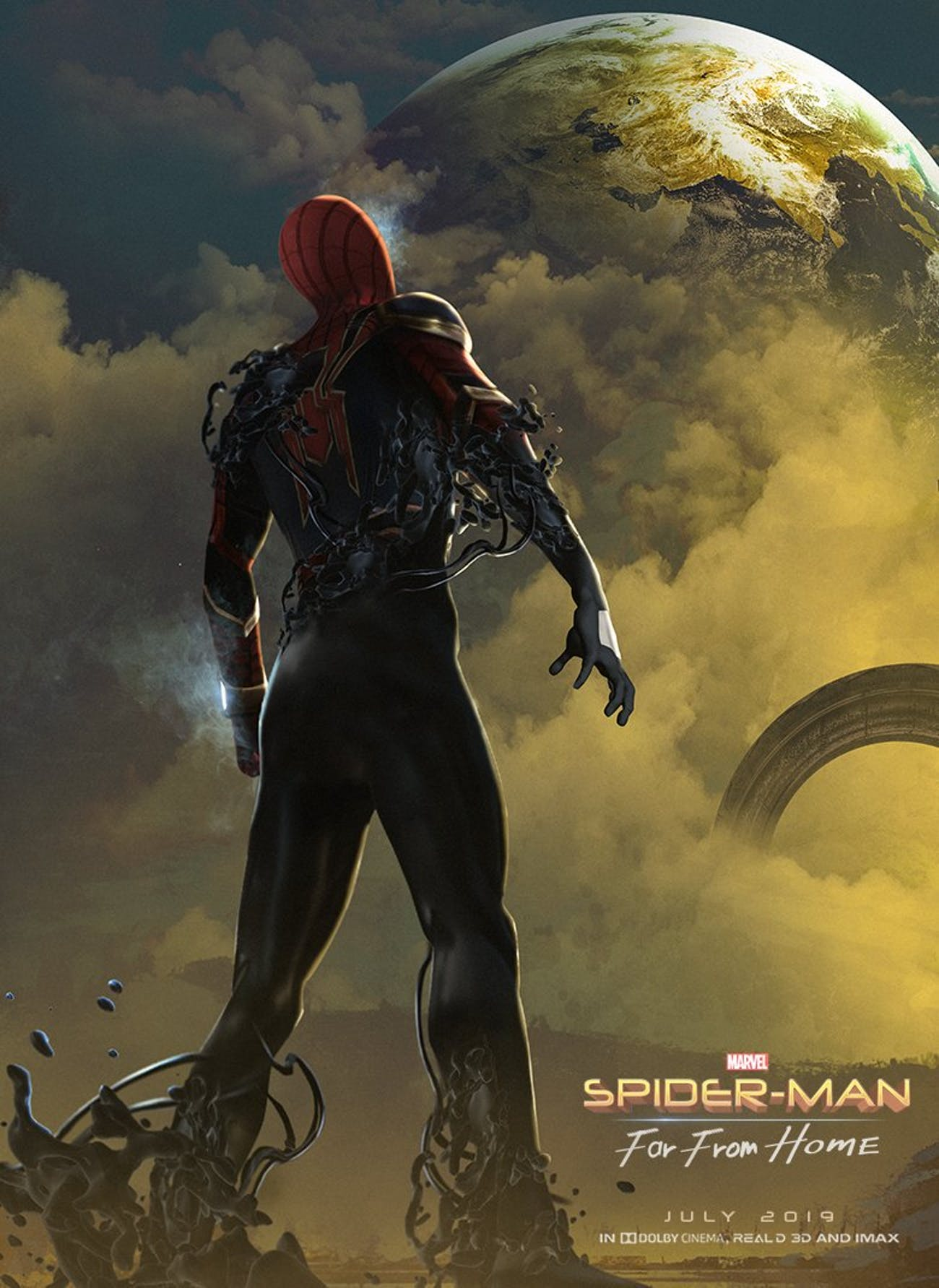 Bosslogic's fan-made poster for 'Spider-Man: Far From Home' has us all wishing the Venom symbiote would factor into the next movie.
