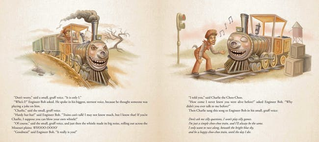 An excerpt from 'Charlie the Choo-Choo'
