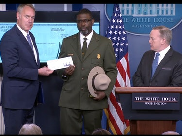 Trump Donates First Quarter's Salary to National Parks Service