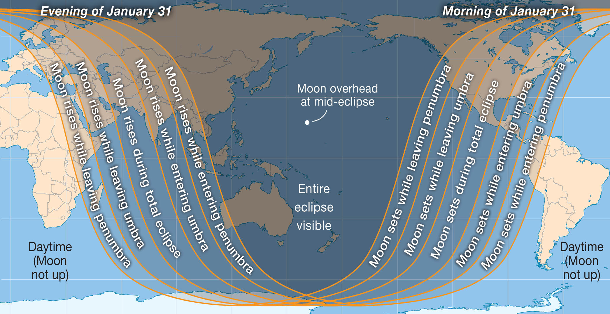 The West Coast Will Have a Perfect View of January 31 Total Lunar