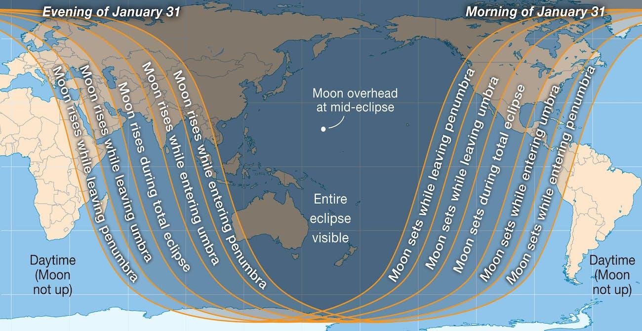 World map of Jan 2018 eclipse
