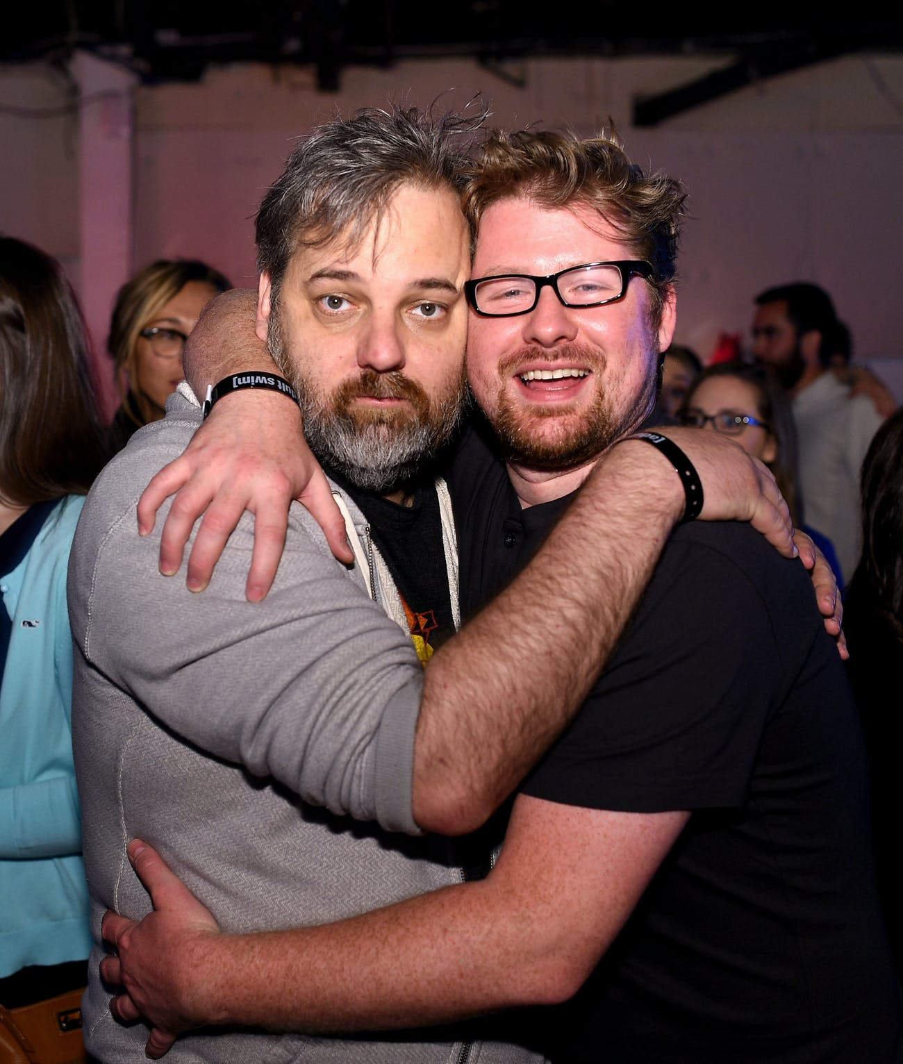 NEW YORK, NY - MAY 13: Dan Harmon and Justin Roiland attends the 2015 Adult Swim Upfront Party at Terminal 5 on May 13, 2015 in New York City. 25515_002_0244.JPG (Photo by Dimitrios Kambouris/Getty Images for Tuner)