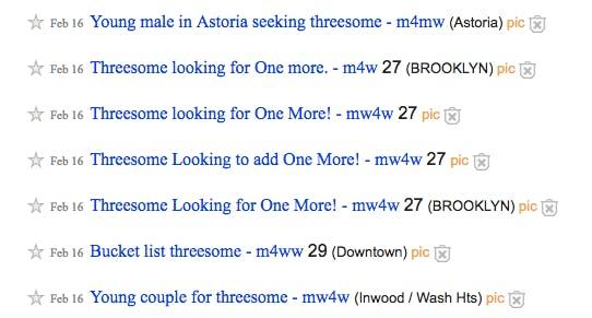 Threesome Craigslist