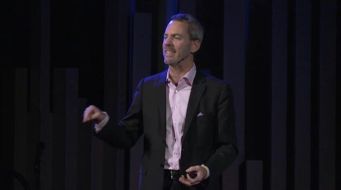 Tumlin speaking at a TEDx talk in Sacramento in 2013.