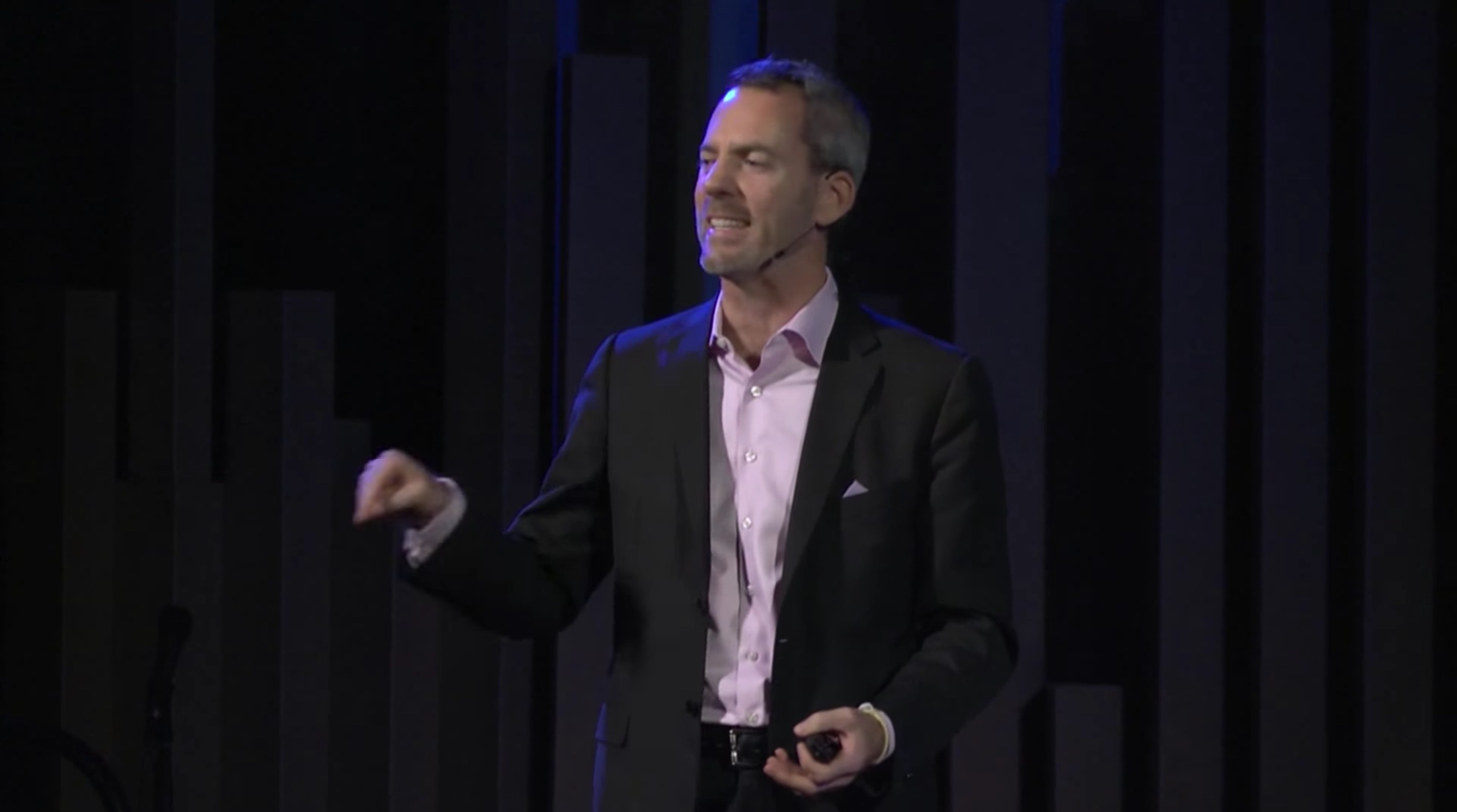Tumlin speaking at a TEDx talk in Sacramento in 2013.
