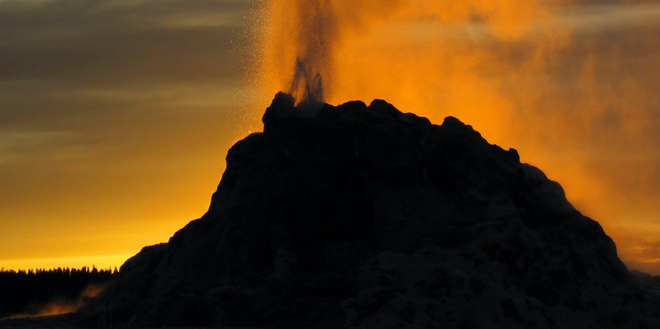 White Dome Geyser eruption (8:49-8:51 PM, 5 June 2017) 4