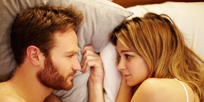 Bojana Novakovic and Josh Lawson in the film 'The Little Death'