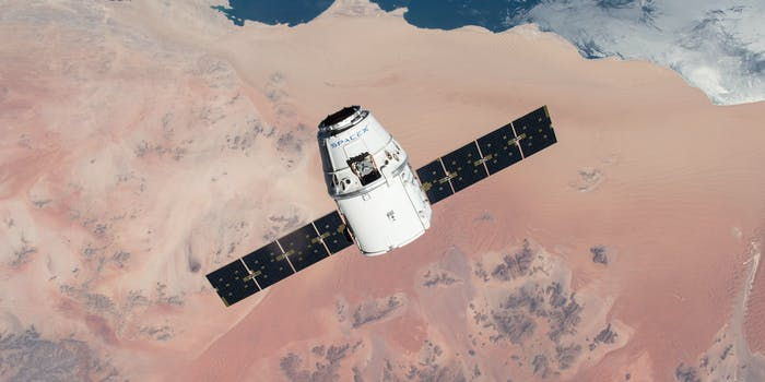 A SpaceX Dragon capsule