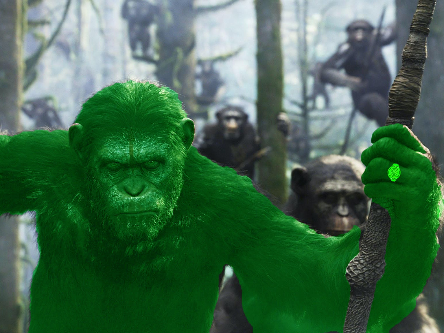 DC's Has an Ape Green Lantern in 'Planet of the Apes' Crossover