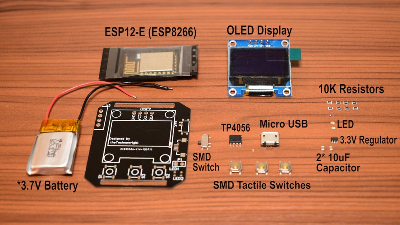 diy smartwatch pieces