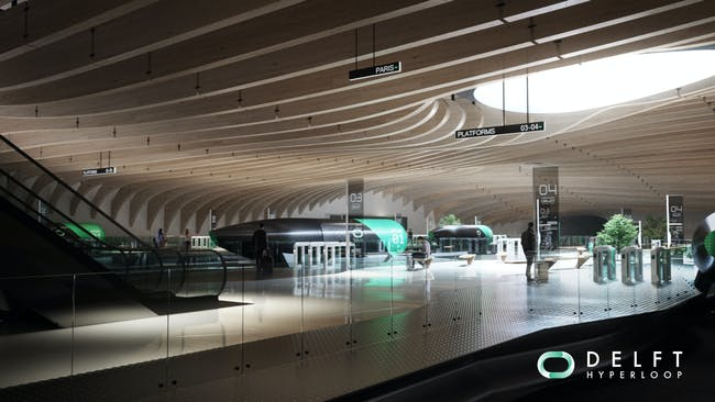Hyperloop station concept design.